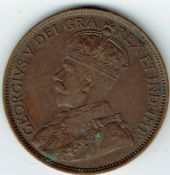 Canada, George V, One Cent 1913, VF, WB4619